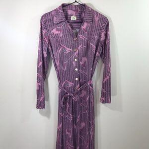 Amazing retro pink & grey dress